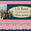 Lili rose : art et création sur bois peint