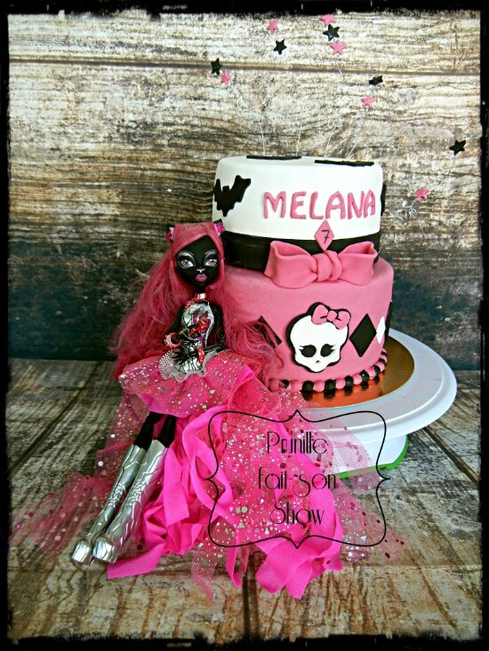 gateau monster high caty chat prunillefee 4