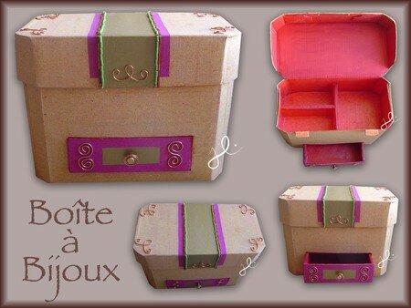 Bo te bijoux en carton la fabrique de julie - Fabriquer une boite a bijoux ...