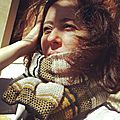 Pollen scarf family, free pattern!