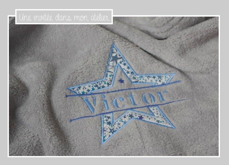couverture-ultra douce-personnalisée-Liberty-adealja bleu