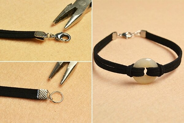 Pandahall Easy DIY – How to Make a Couple of Peace Buckle Bracelets for Lovers (5)