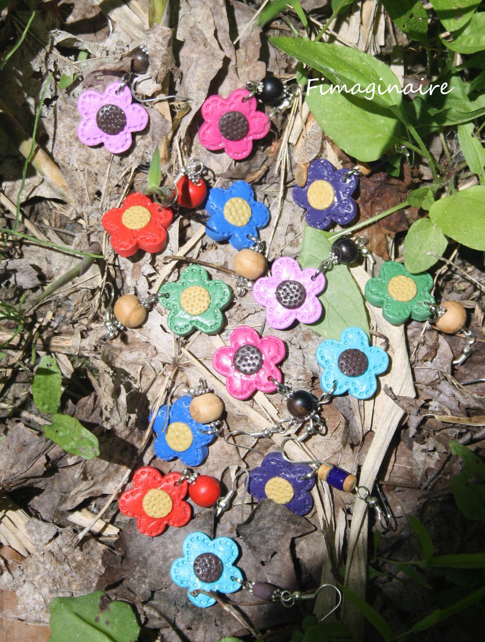 boucles d'oreilles fleurs des bois