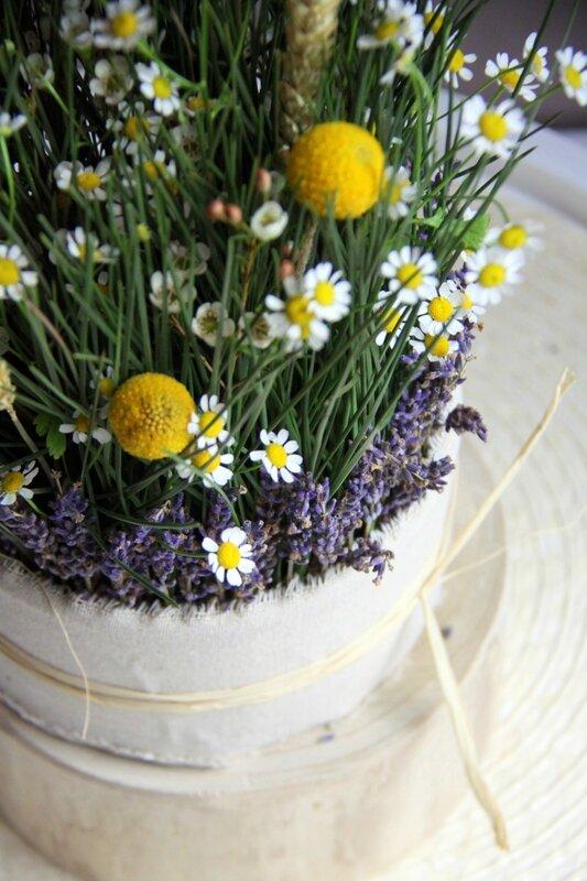 Mariage - Centre de table champêtre - création EstelleG pour La Saladelle - Atelier floral Perpignan et Pyrénées-Orientales 01