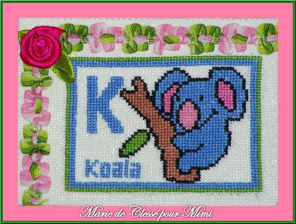Echange ATC Koala Marie de Clessé pour Mimi Chez Miou