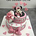 Gâteau cadeau Minnie