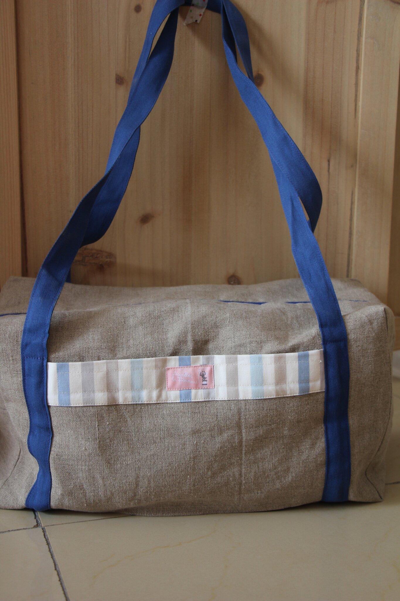 sac polochon, à personnaliser, 45€
