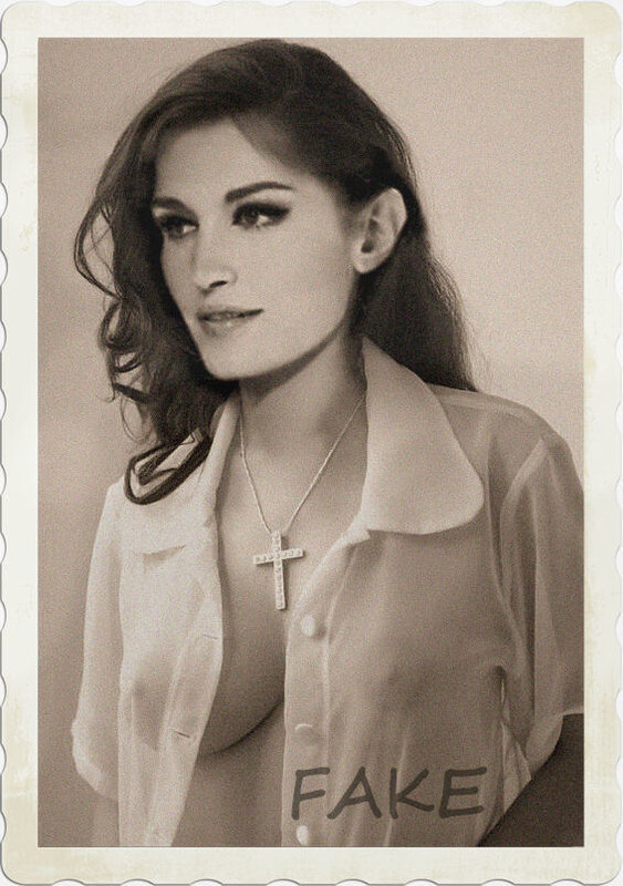Dalida, chemisier transparent