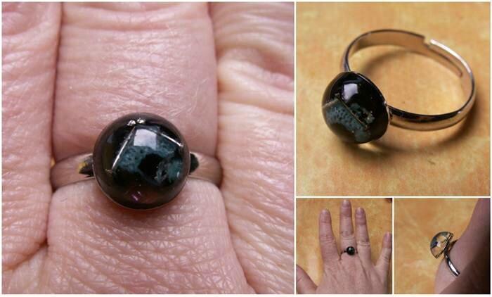 resine_bague micro tricot bleu et noir 1