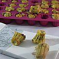 Mini cakes aubergine féta
