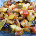 Ratatouille à la confiture de piment doux.