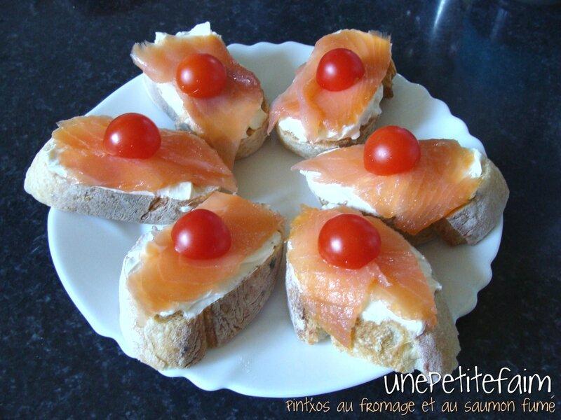 Pintxos fromage et saumon