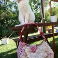 sac tissu , fabric handbag