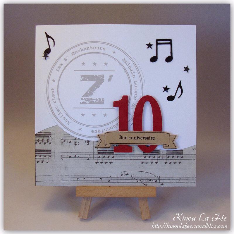 Carte Les Z'Enchanteurs 10 ans 1