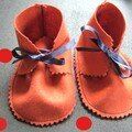 chaussons makie orange