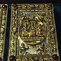 Plat de reliure en argent orné du couronnement de la Vierge .Freiburg im Breisgau 1449-