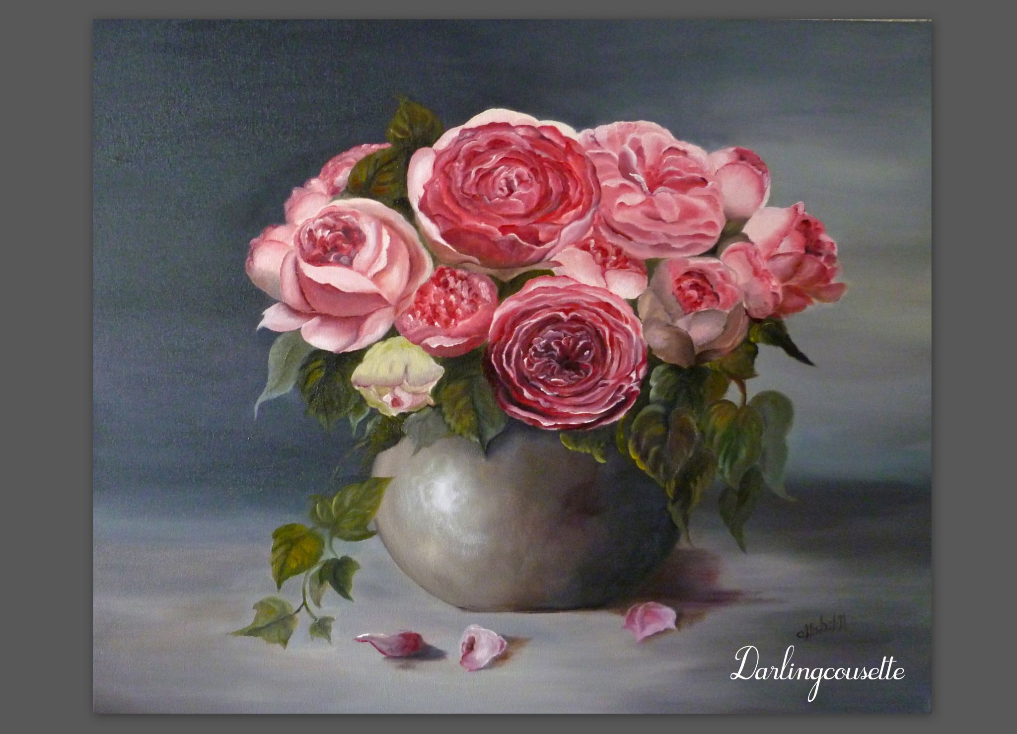 Top Mes nacres et mes roses - Darling Cousette OH29