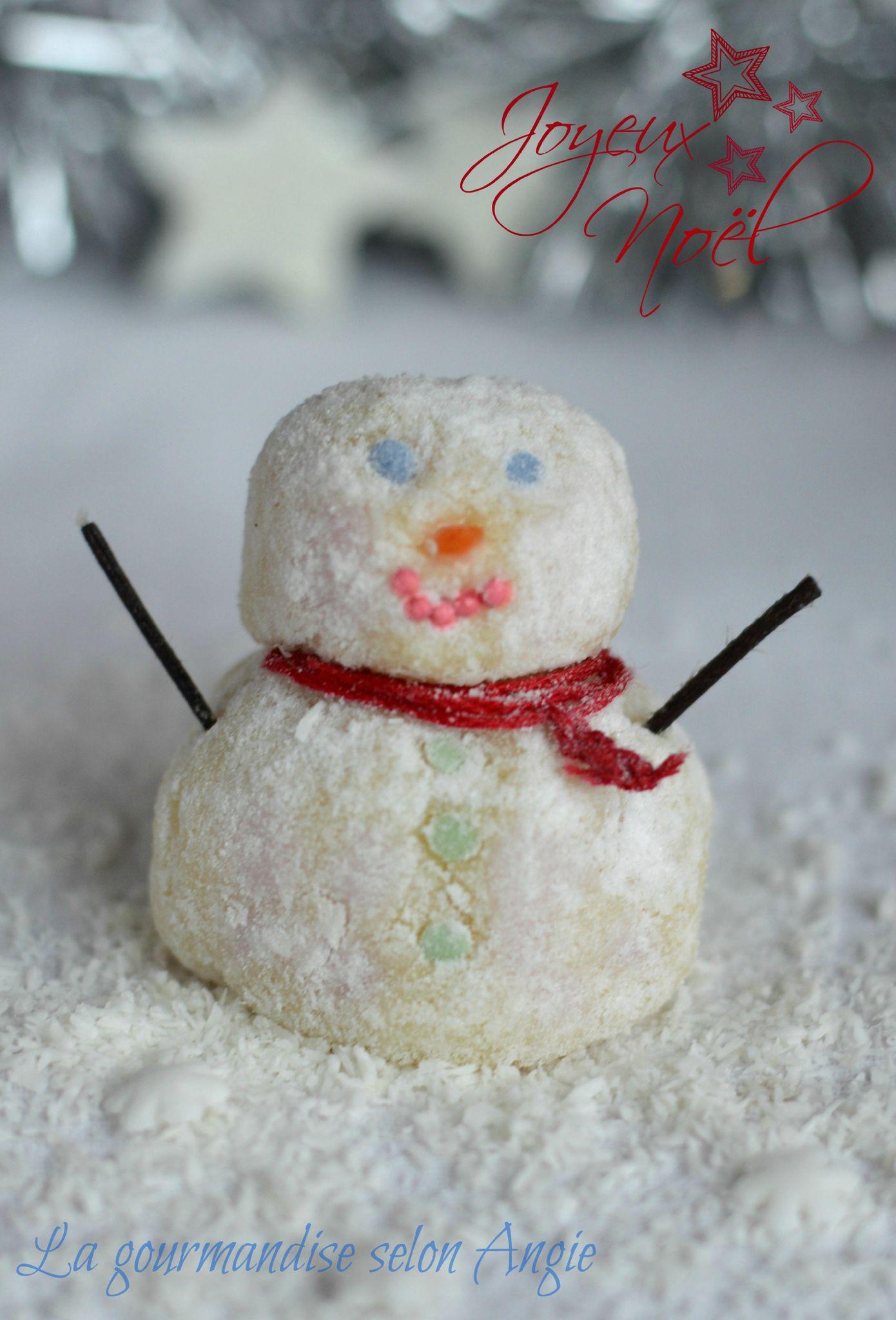 Bonhomme de neige en chocolat blanc no l la gourmandise selon angie - Bonhomme de neige en polystyrene ...