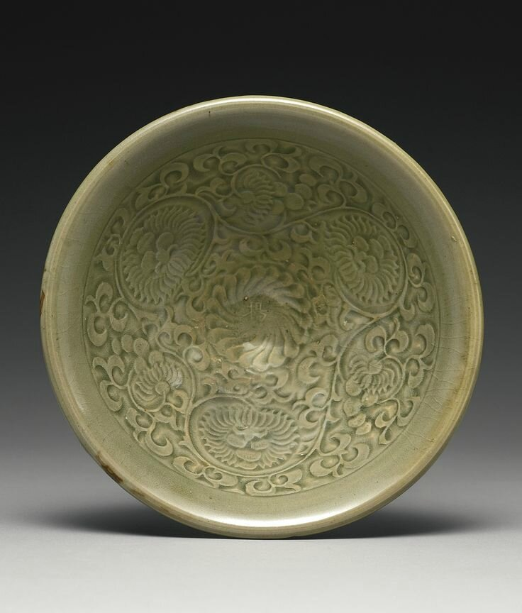 A 'Yaozhou' Celadon 'floral' bowl, Northern Song-Jin Dynasty