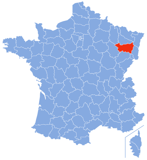 Par Marmelad — Based on Image:Départements de France-simple.svg, CC BY-SA 2.5, https://commons.wikimedia.org/w/index.php?curid=2710827