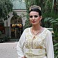 Caftan marocain blanc: genre de tendelle mode 2017