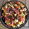 Salade tiède de pommes de terre au saucisson