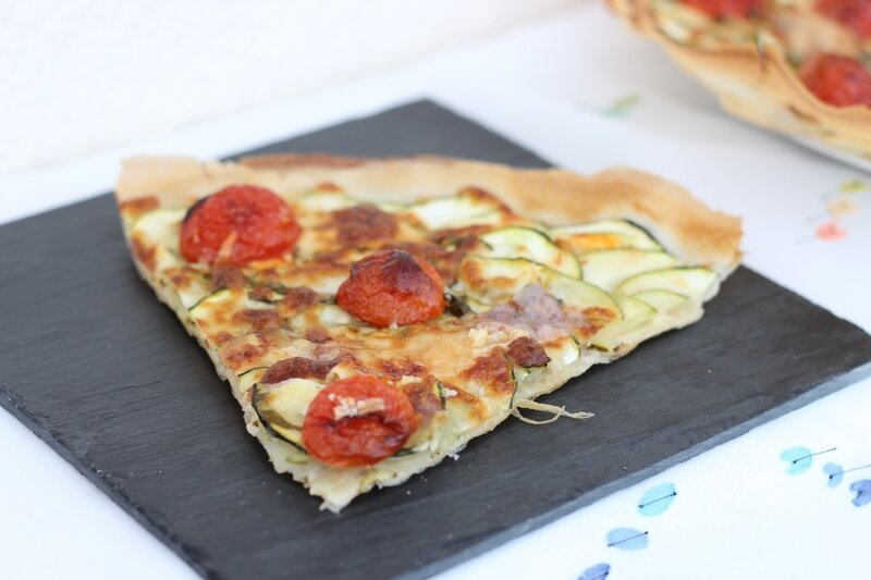 tarte feuilles brick courgettes tomates