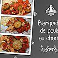 Blanquette de poulet au chorizo et aux courgettes