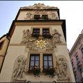 les façades d'immeubles à Prague