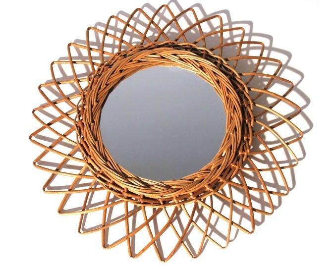 meuble-vintage-miroir-rotin-soleil