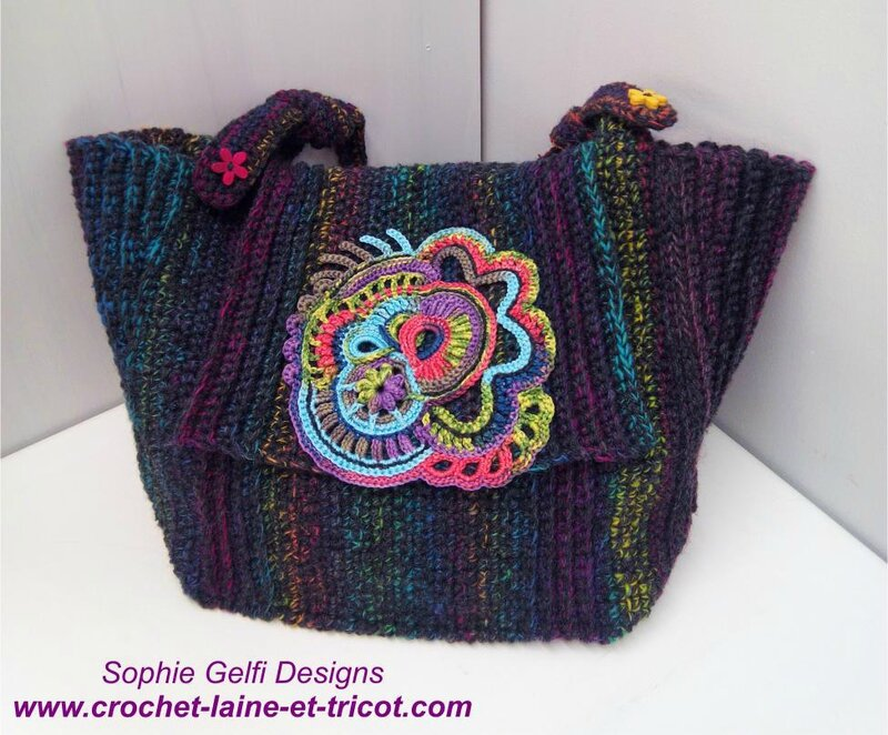 sac crochet handbag freeform 2