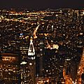 New-york : empire state building, top of rock et autres buildings