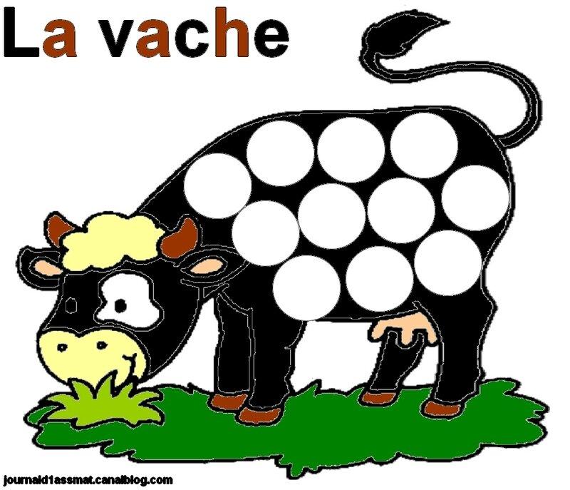 vache-gommettes coloriée