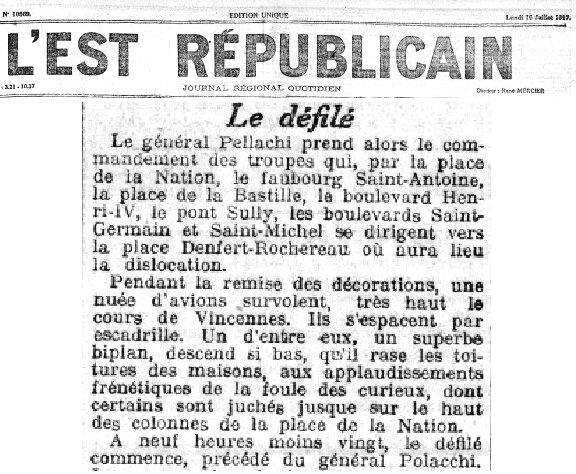 L'Est Républicain du 16 juillet 1917
