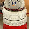 Bonhomme de neige en pneus