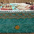 Boîte à bijoux turquoise avec tiroir