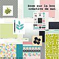 La box créative de mai en boutique :-)