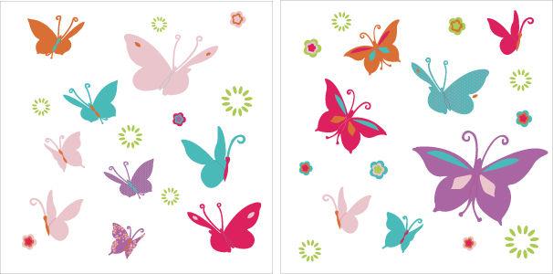 Stickers papillons d coration chambre b b et cadeaux for Stickers papillon chambre bebe