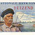 1950 1000francs verso d'Albert 1er Hendrik Geeraert 1863-1925 Marin et Réistant - les écluses de Nieuport
