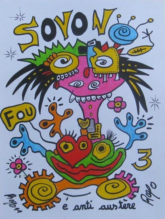 ROYO SOYON FOU 3 2011 32 X 24