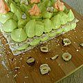 Dacquoise noisette/pistache