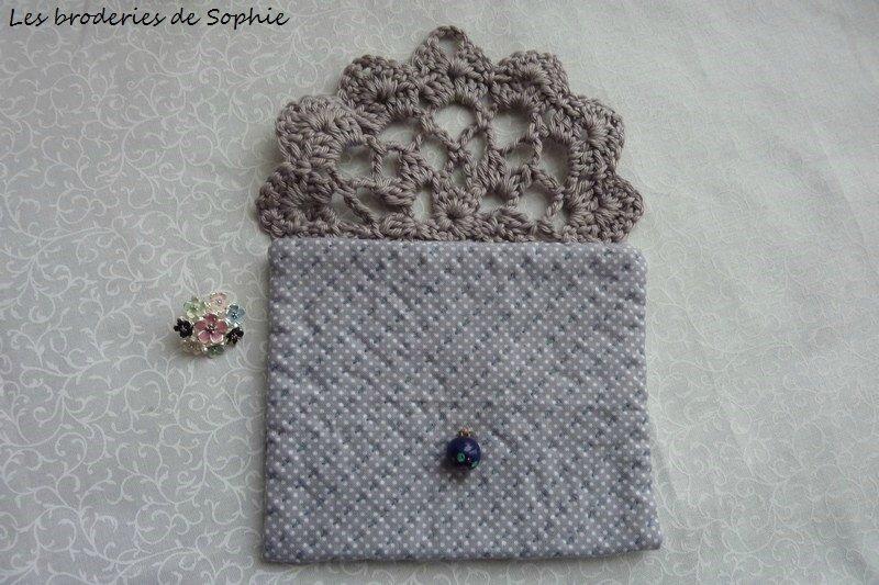 Pochette rabat en crochet (4)
