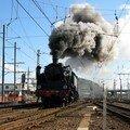 Locomotive à vapeur 141-TD-740 quittant Bordeaux