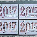 Bonne année 2017 - les cartes