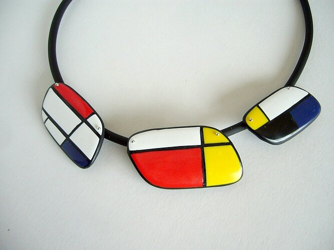 mondrian collier triple