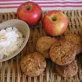 Muffins aux pommes et à la noix de coco