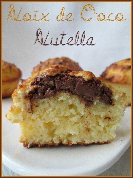 gâteaux noix de coco - nutella 1