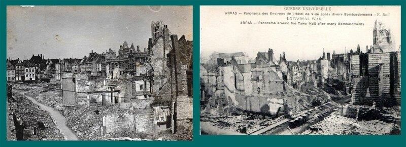 Arras (Pas-de-Calais), panorama des environs de l'Hôtel de ville
