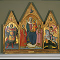 Giovanni dal ponte (giovanni di marco), virgin and child enthroned between saints lawrence and stephen, c. 1425/26