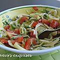 Salade de fenouil, concombre et tomate
